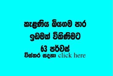 Land for sale Kalaniya Biyagama